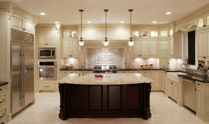 Luxury Shaped Kitchen Designs Layouts Photos