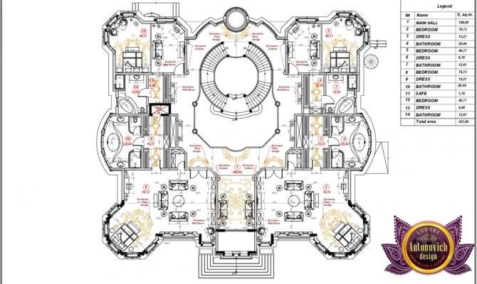 Luxury Villa Floor Plan Uae