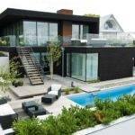 Main Black Facade Nilsson Villa Modern Beach House