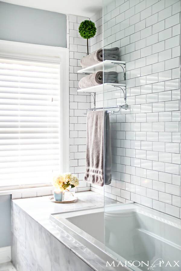 Make Small Master Bath Spa Like Modernize
