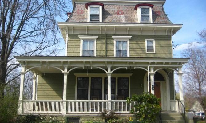 Mansard Roof House Design Green