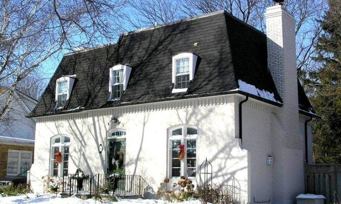 Mansard Roof Painted Brick Neo Pinterest French