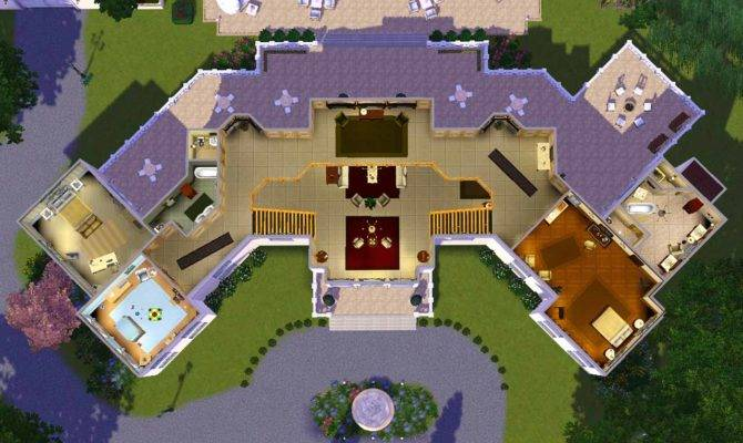 Mansion Floor Plans Sims