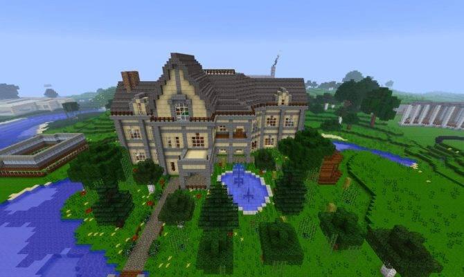 Mansion House Minecraft Building Inc Home Plans Blueprints