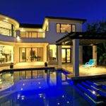 Mansions Pools Night Modern Mansion Kitchen Home Design Jobs