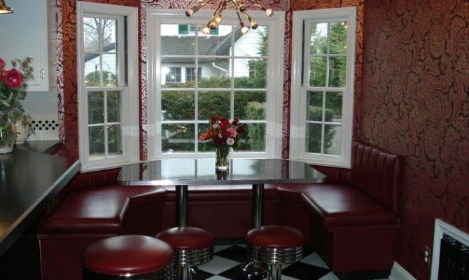 Marian Kitchen Window Booth Seating Bar Stools Vintage