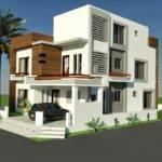 Marla Corner House Plan Design Tariq Garden Lahore