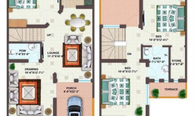 Marla House Plan Lamudi
