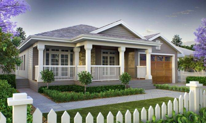 Marvelous American Craftsman One Story House Plans Design