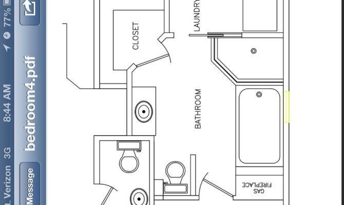 Master Bath Floor Plan Addition Pinterest