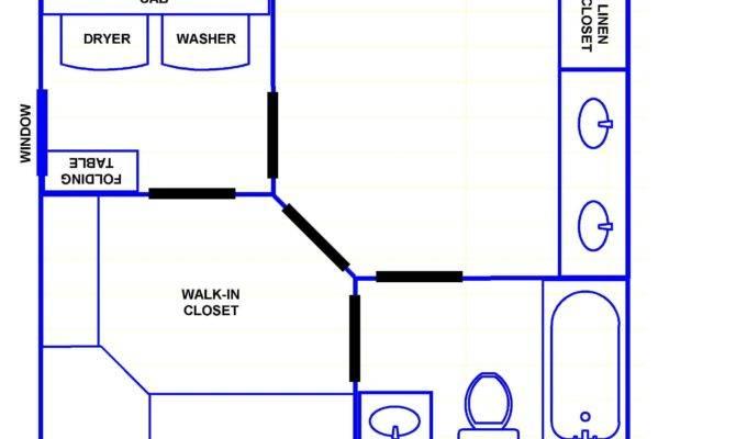Master Bathroom Closet Layout