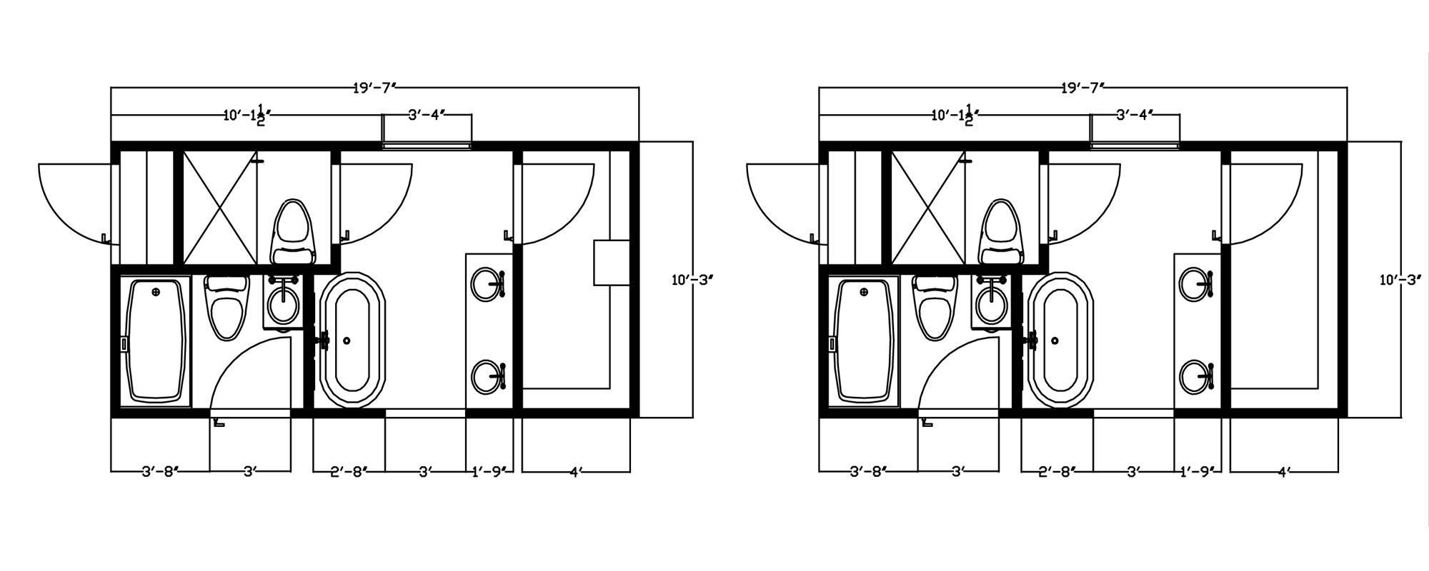 Master Bathroom Floor Plans Closets