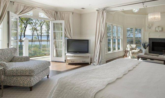 Master Bedroom Double French Doors Above