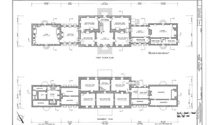 Measured Drawings Basement First Floor Plans