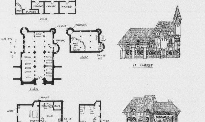 Medieval Village Architecture House Home Building Map