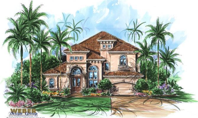 Mediterranean House Plan Aurora Weber Design Group
