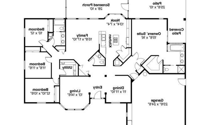 Mediterranean House Plan Bryant Floor