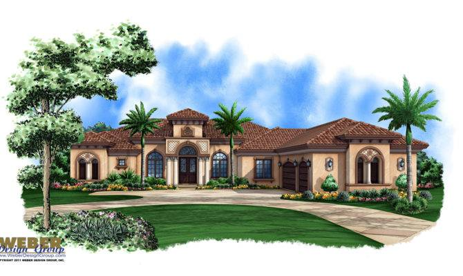 Mediterranean House Plan Story Luxury