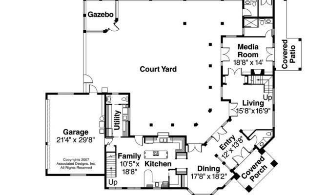Mediterranean House Plan Veracruz Floor
