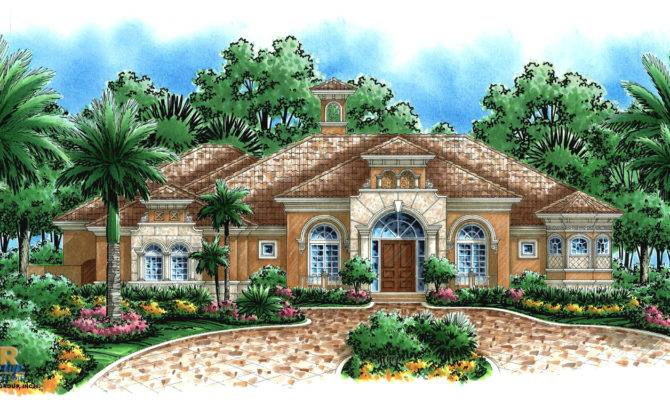 Mediterranean House Plan Vernon Weber Design Group