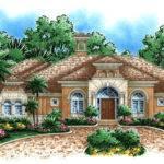 Mediterranean House Plan Waterfront Golf Course Home