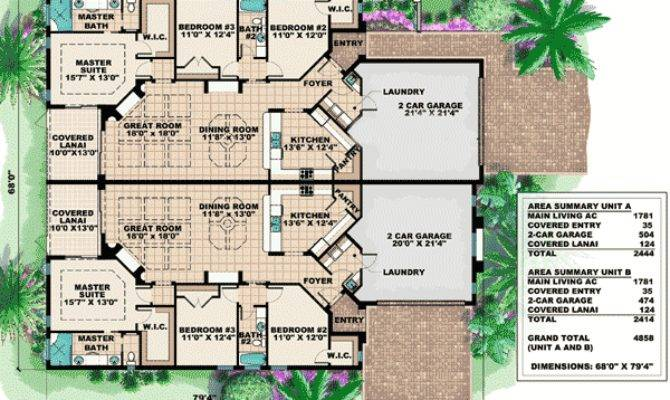 Mediterranean Multi House Plan