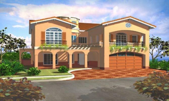 Mediterranean Style House Plans Villa Floor