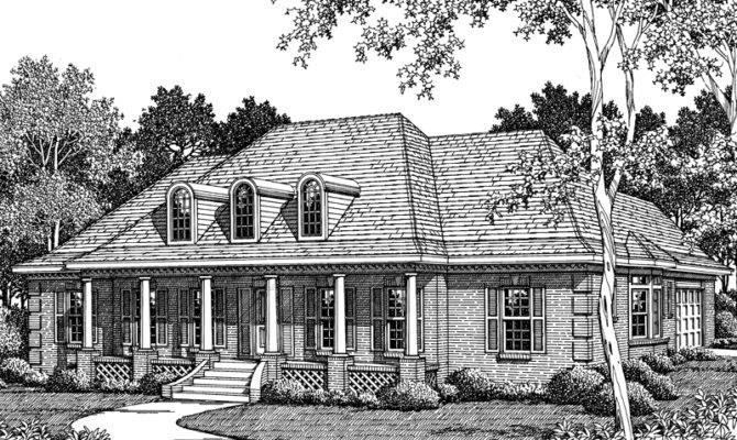 Medora Bayou Plantation Home Plan House Plans More