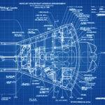 Mercury Spacecraft Blueprint Space Art Aviation