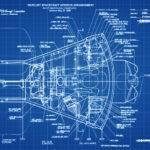 Mercury Spacecraft Blueprint Space Art Aviation