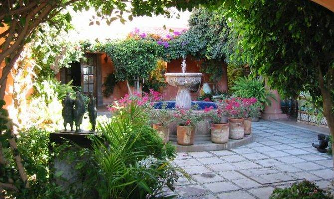 Mexican Courtyards Patios Courtyard Central Part