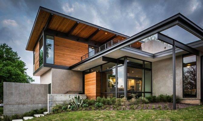 Mid Century Modern Aesthetics Shape Posh Texas Home Wood Glass