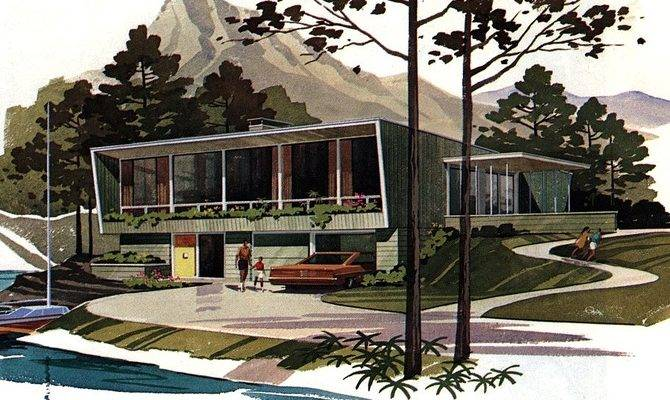 Mid Century Modern Building Plans Drawings Galore Modernica Blog