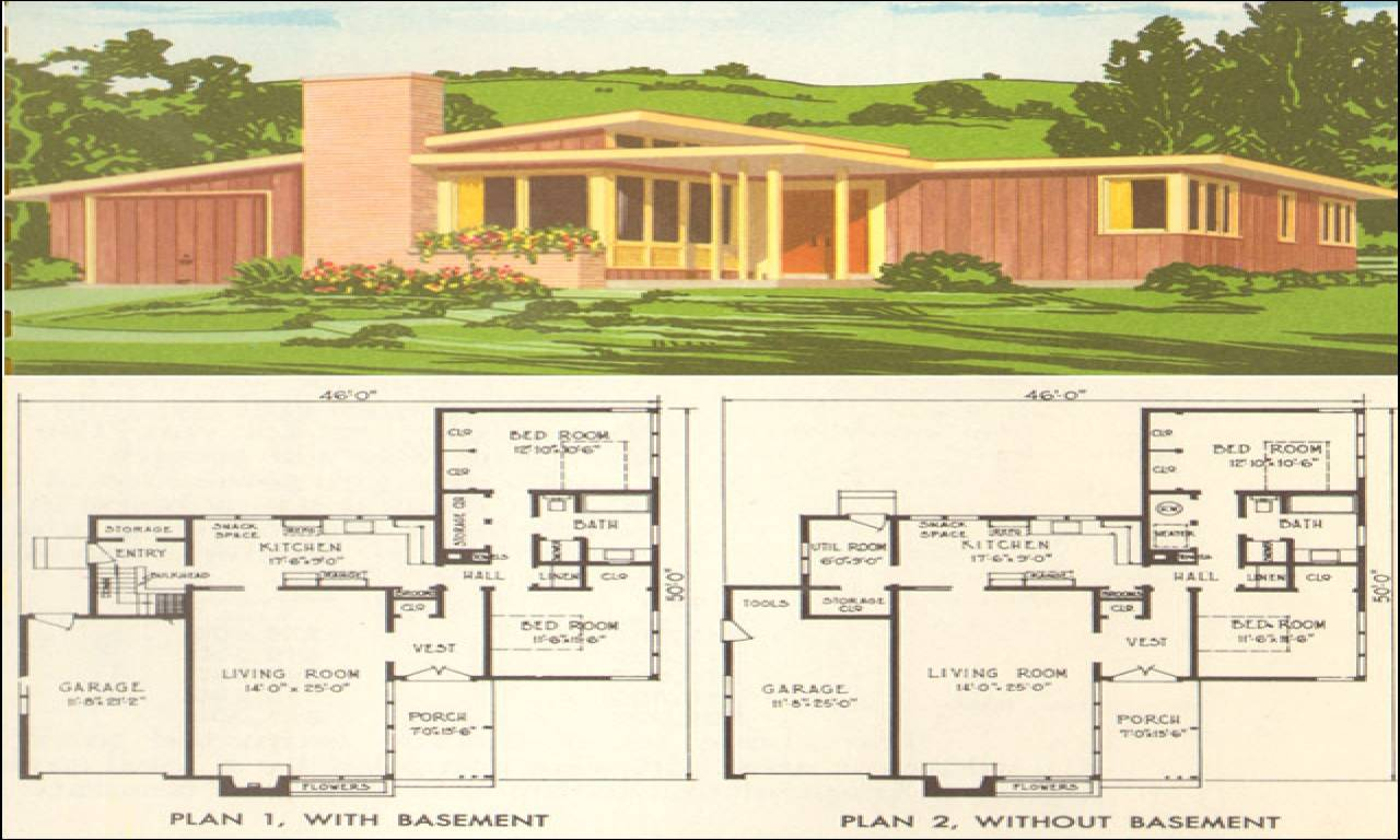 Mid Century Modern Home Design Plans Homemade Ftempo