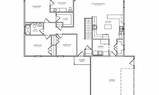 Midwest Ranch House Plan Single Level