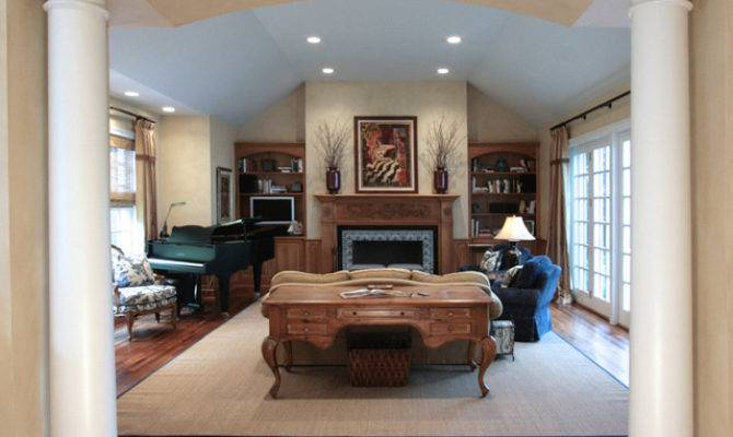 Midwestern Farmhouse Traditional Living Room Chicago