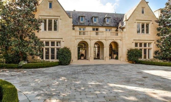 Million English Tudor Revival Stone Mansion Dallas