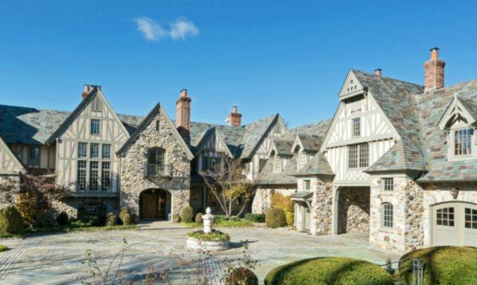 Million English Tudor Stone Mansion Kings Point