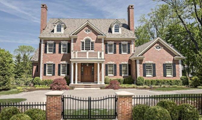 Million Georgian Colonial Brick Mansion Ridgefield
