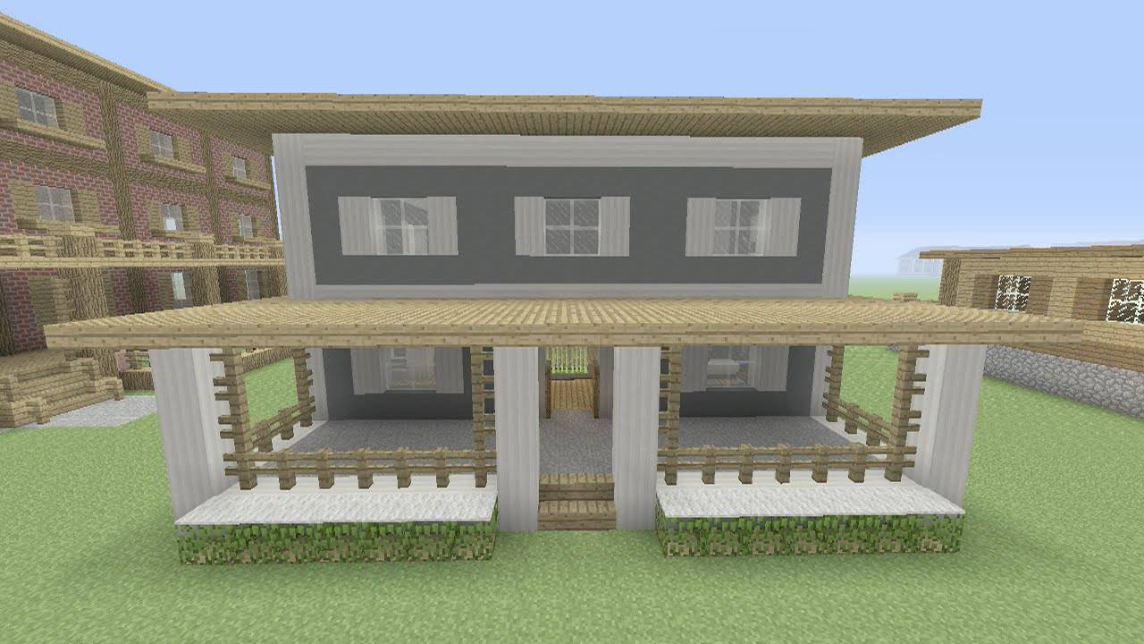 Minecraft Build Easy House Tutorial Step Home Plans Blueprints