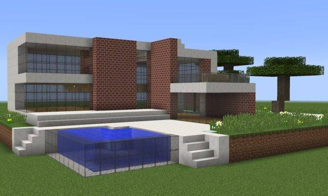 Minecraft Build Modern House Tutorial
