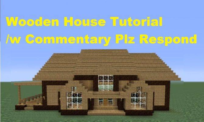 Minecraft Build Wooden House Number Youtube