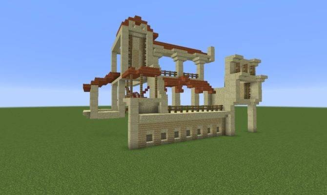 Minecraft Building Challenge Roman Style Houses Bdoubleo Home Plans Blueprints 82526