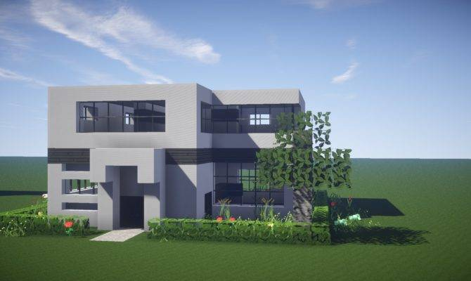 Minecraft House Tutorial Build Modern