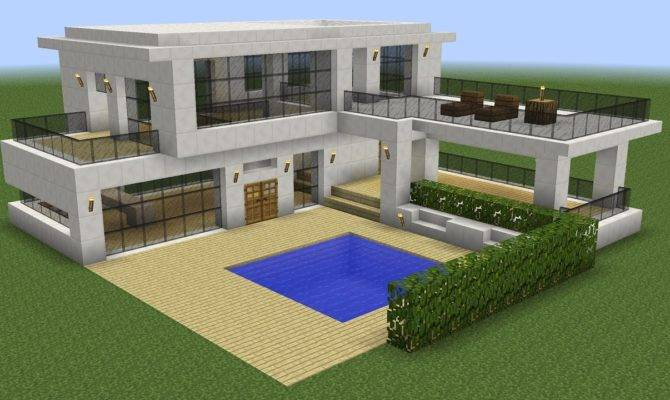 Minecraft Modern House Home Design