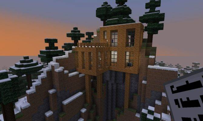 Minecraft Mountain Side House Becuo