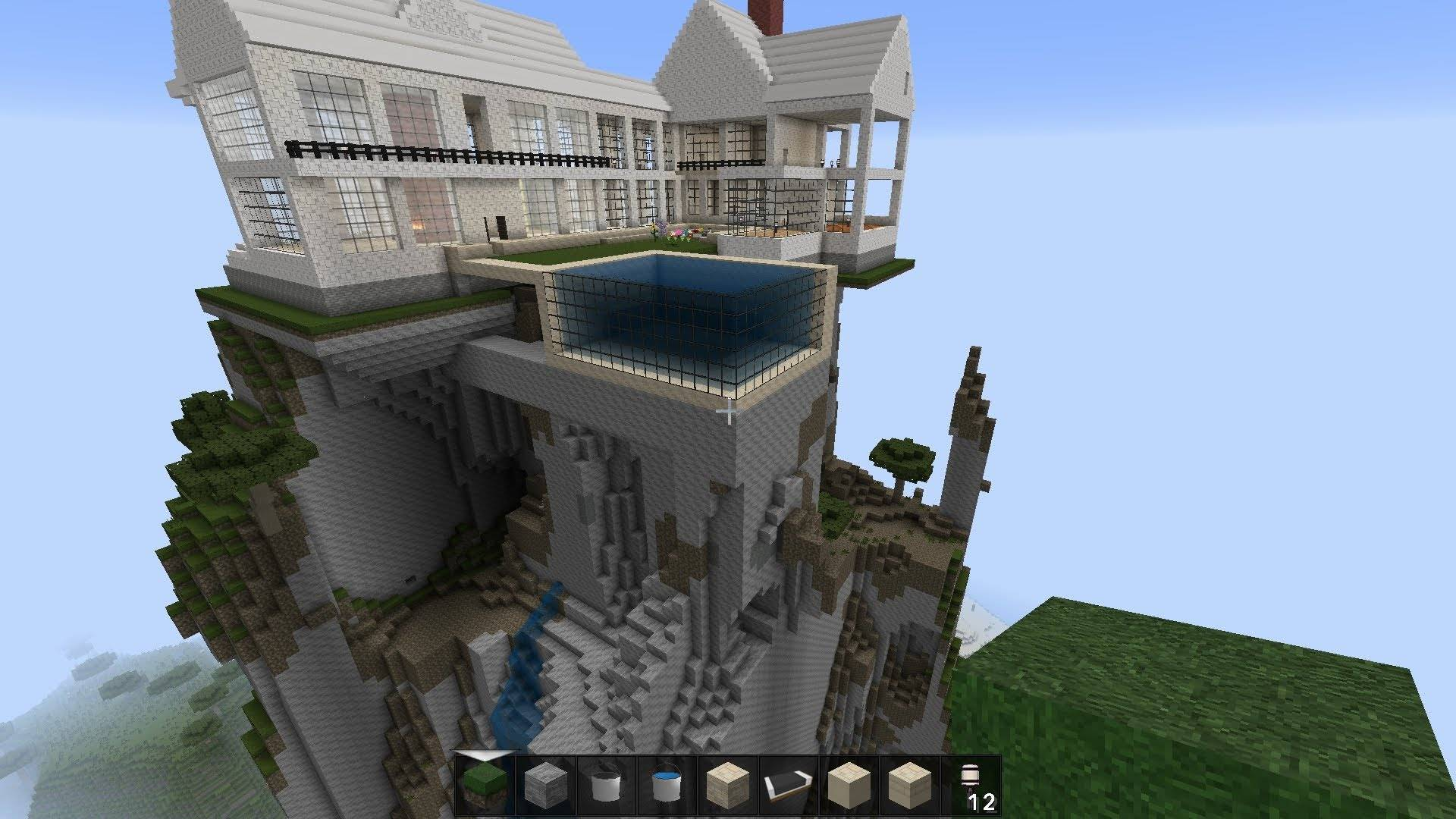 Minecraft Mountain Top House Massive Mansion Home Plans