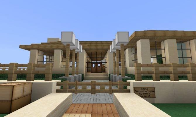 Minecraft Sandstone House Bubblez Blog Nice