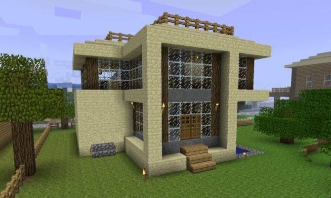 Minecraft Sandstone House Design Modern Project Home Plans Blueprints 27721