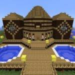 Minecraft Tutorial Built Wooden Mansion Youtube